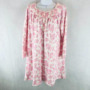 Aria Collection Pink White PJ Gown M